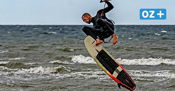 Spektakuläre Fotos: Kitesurfer zeigen Stunts in der Wohlenberger Wiek