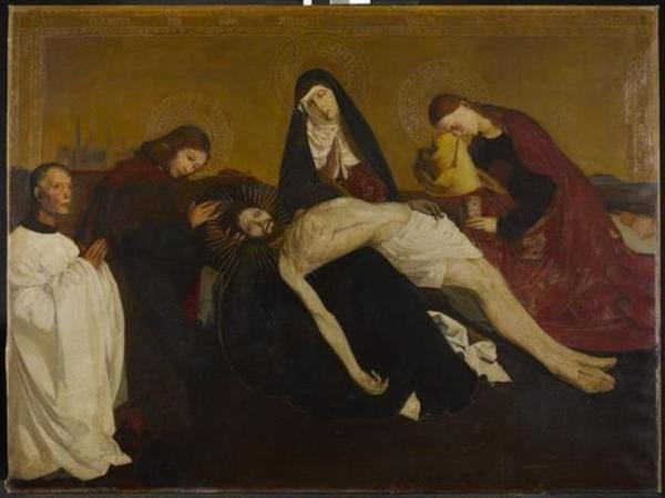 'Copy after the Pietà de Villeneuve-Lés-Avignon' 1912 - olieverf op doek: Piet Mondriaan (herkomst: coll. Kunstmuseum Den Haag)