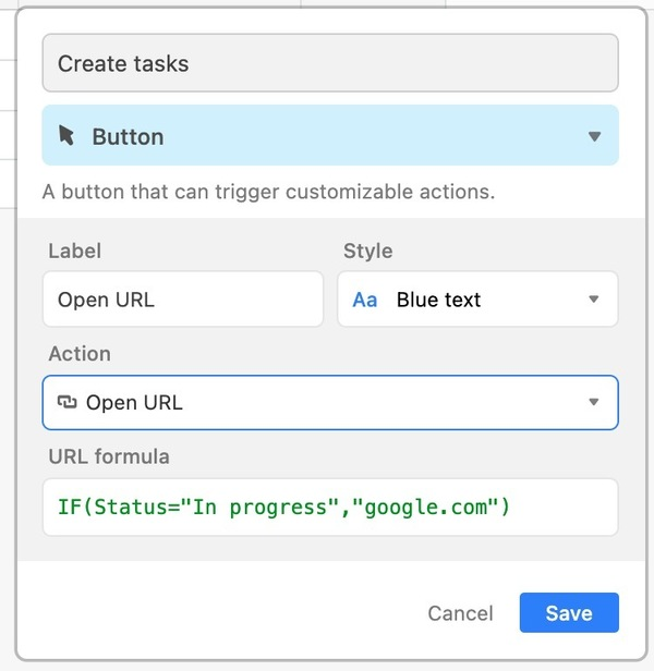 Adding validation to a button field