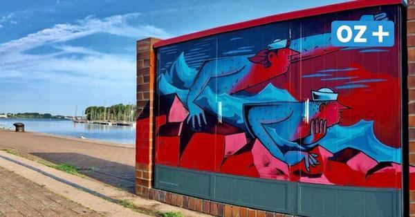 Rostocker Stadthafen wird zur Streetart-Galerie: Das sind die Werke der Graffiti-Künstler