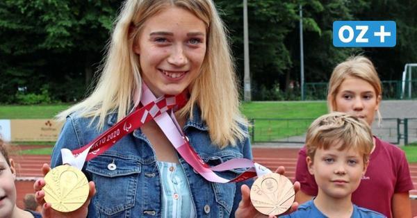 Lindy Ave nach Gold und Weltrekord bei Paralympics zurück in Greifswald