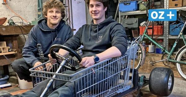 Tempo 50 mit dem Einkaufswagen: Jugendliche aus Stralsund bauen günstiges Gokart