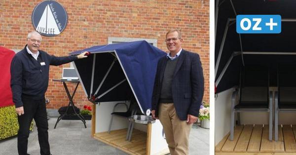 Kann im Auto mitgenommen werden: Neuburger entwirft minimalistischen Strandkorb