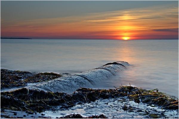 Sonnenuntergang auf Poel (Foto: Jens Eppendorfer)