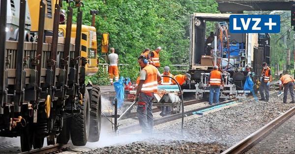 Zoff um nächtlichen Gleisbau zwischen Leipzig und Markkleeberg