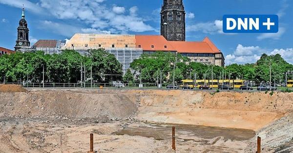 Ferdinandplatz Dresden: Am neuen Rathaus wird in die Tiefe gebaut