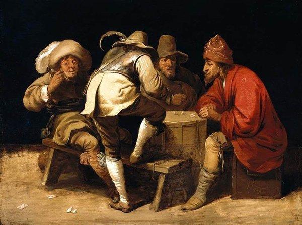 People gambling their quarters away...