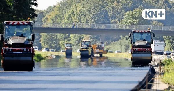 A215: Belag erneuert zwischen Blumenthal und Autobahndreieck Bordesholm