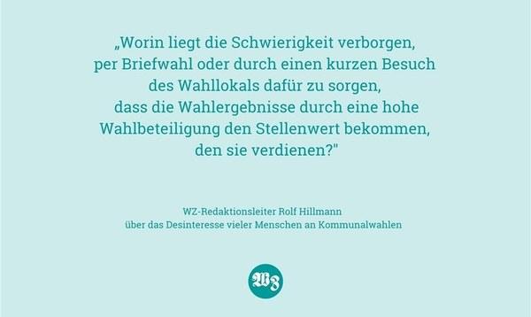 Desinteresse an der Kommunalwahl ist Desinteresse an der Heimat - Meinung - Walsroder Zeitung