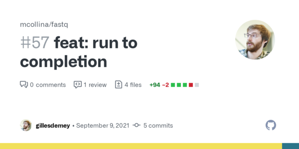 feat: run to completion by gillesdemey · Pull Request #57 · mcollina/fastq · GitHub