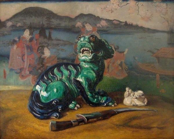 'Draak' 1910 - olieverf op doek: Johannes Graadt van Roggen (herkomst: coll. Ruud van der Velden Kunst)