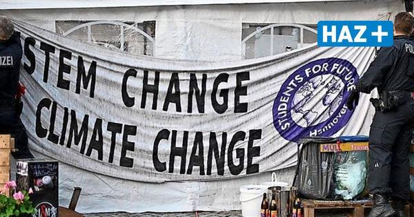 ...der Streit um das Banner am Fridays-for-Future-Camp