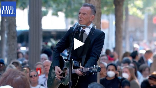 Bruce Springsteen performs at the 9/11 memorial in New York City