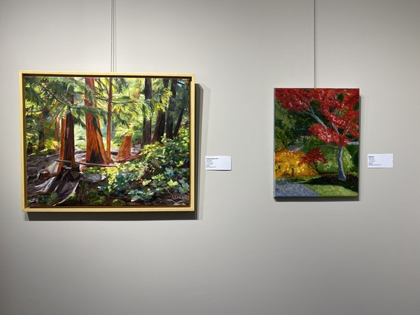 Left to right, paintings Jody Waldie and Glenda King.