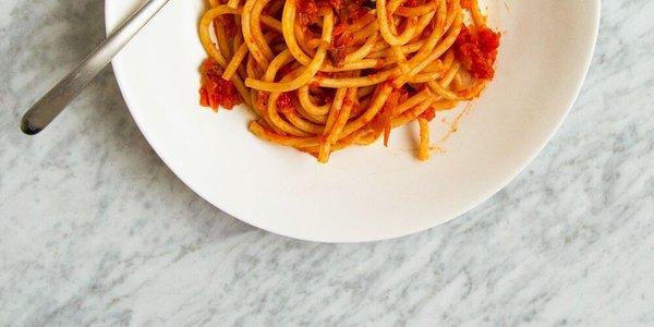 Bucatini Amatriciana Recipe - Hugh Acheson | Food & Wine