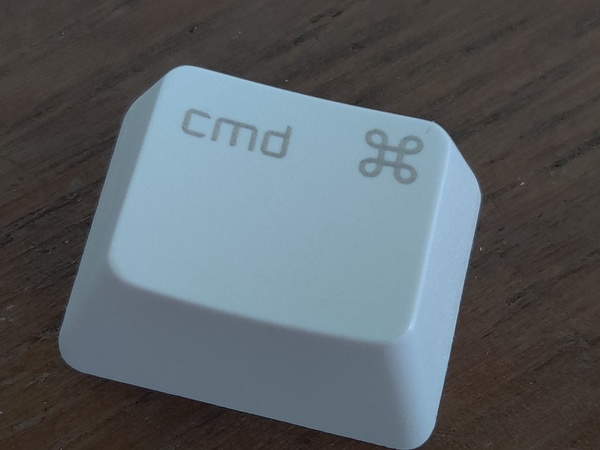 This command key feels more textured than my other command key.