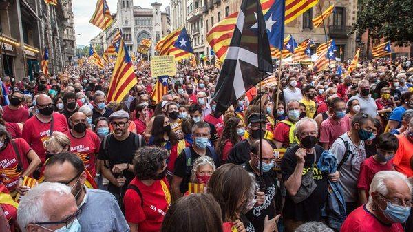 Großdemonstration für die Unabhängigkeit Kataloniens