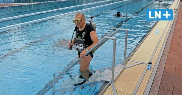 Extremsportler Wolfgang Kulow stellt Weltrekorde beim Sprint unter Wasser auf