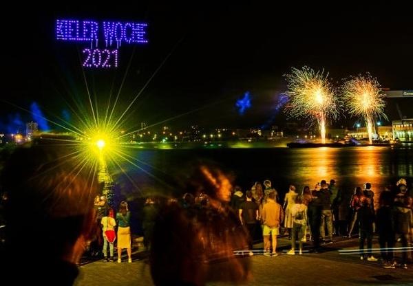 Livestream: So schön ist das Feuerwerk zur Kieler Woche 2021