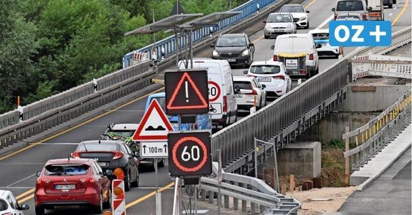 A20 bei Tribsees: Teil der neuen Brücke schon kommende Woche für Verkehr freigegeben