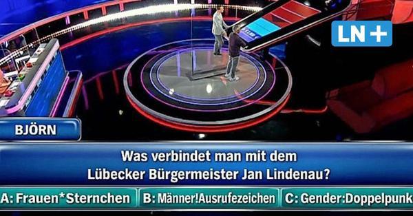Punkten mit Jan Lindenau: Lübecks Gender-Doppelpunkt als Quizshow-Frage