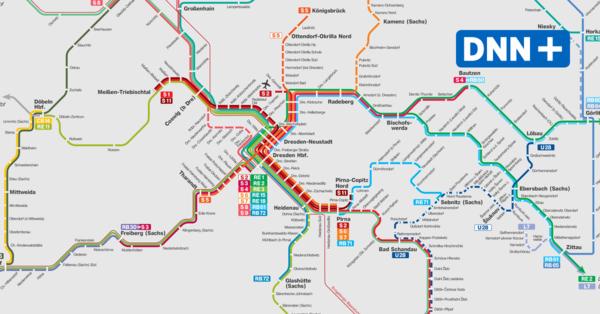 Vision für neues S-Bahn-Netz in Dresden: Deutlich mehr Linien, engere Takte