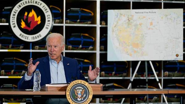 White House abruptly cuts feed of Biden mid-sentence as he asks question at wildfires briefing   Fox News
