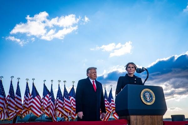 Melania Trump 'will be right there' if Donald Trump runs again - POLITICO