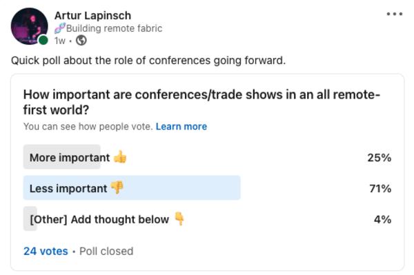 Results on LinkedIn: https://bit.ly/3zeVLoJ