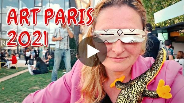 Art Paris 2021 with Artist Zoia Skoropadenko and her Reddit Goggles