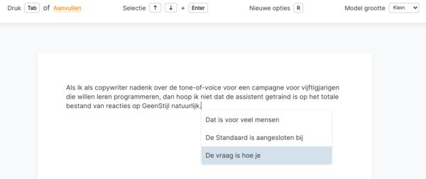 Kan AI een Nederlandstalige tekst schrijven? Test het zelf; Knack.be + ML6