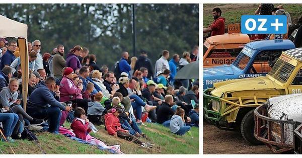 Liveticker zum Grimmener Stockcar-Rennen: Wohnwagen-Vernichtungsrennen im Video
