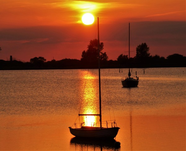 Sonnenuntergang am Salzhaff in Rerik (Foto: Gerhard Heß)