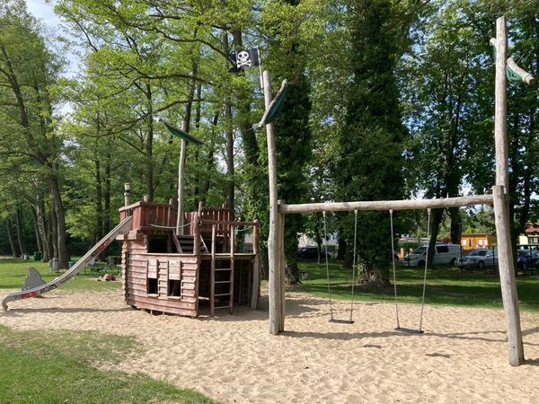 Der Piratenspielplatz am Strandbad Wünsdorf. Foto: Nadine Pensold