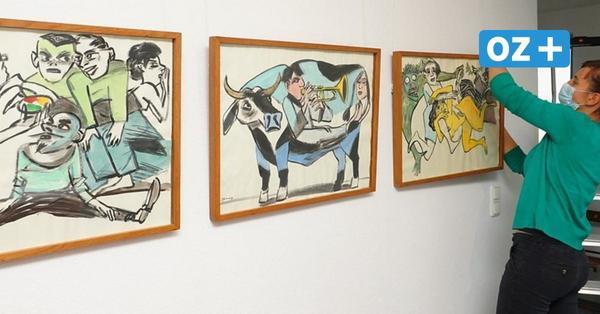 Arbeiten von Wolf-Dieter Pfennig sind in der Wismarer Galerie zu sehen