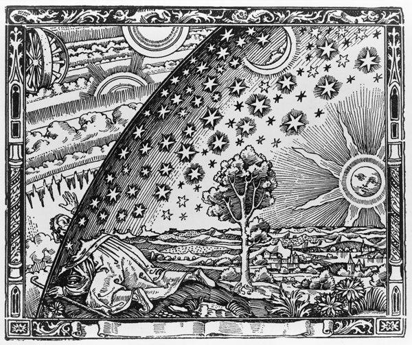 """Gravure sur bois de Flammarion, également connue comme """"gravure au pèlerin"""""""