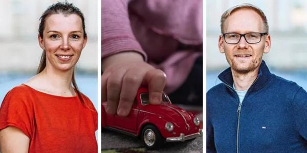 Catharina Kahl und Jens Borchert Pickenhan gehören zum Vorstand des Kita-Elternbeirats. Quelle: André Gehrmann (2), Sebastian Gollnow