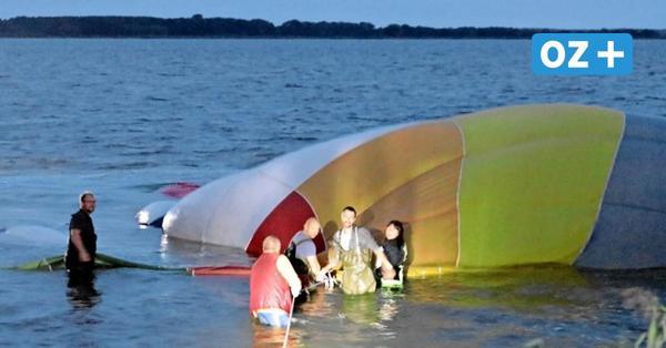 Heißluftballon muss im Achterwasser vor Usedom notlanden: Wie der Pilot das Drama erlebte