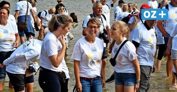 Rügen: Rekordversuch im Wassertreten gescheitert