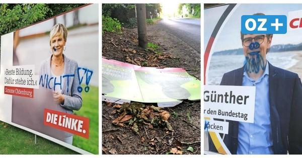 """Wahlplakate auf Rügen verschandelt: """"Solche Dimensionen von Zerstörung hatten wir noch nie"""""""