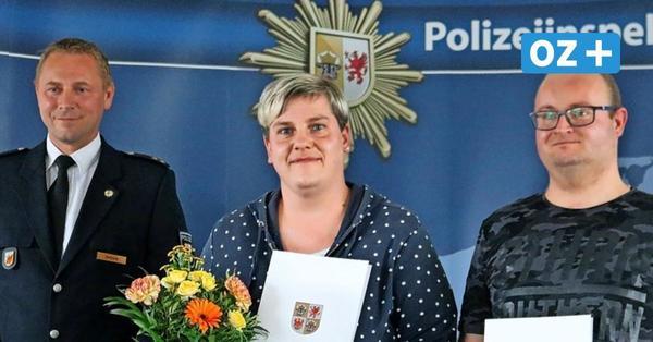 Polizei ehrt mutige Bürger: So überführten diese beiden Wolgaster einen Brandstifter