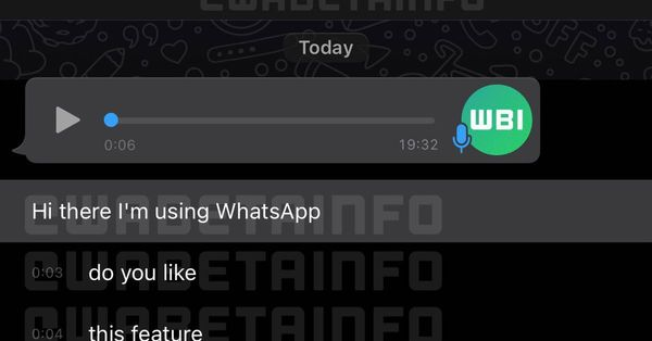 WhatsApp developing transcriptions to tame chaotic voice notes