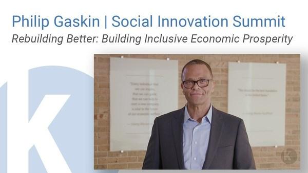 Philip Gaskin | Social Innovation Summit | Rebuilding Better: Building Inclusive Economic Prosperity
