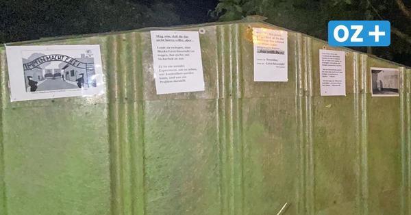 Volksverhetzung in Barth: Darum hängen noch immer Plakate