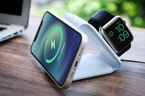 Wirelessly charge 3 Apple devices at once with this unique floating stand