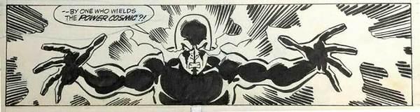 Sal Buscema - Silver Surfer Original Comic Art