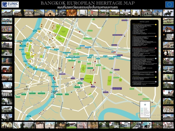 European Heritage Map of Bangkok