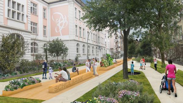 Vision d'architecte du projet « Superbüttel » (source : Kurs Fahrradstadt)