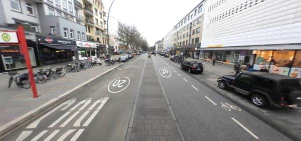 Exemples d'aménagements prônés par l'initiative « Quartiere für Menschen » (ADFC)