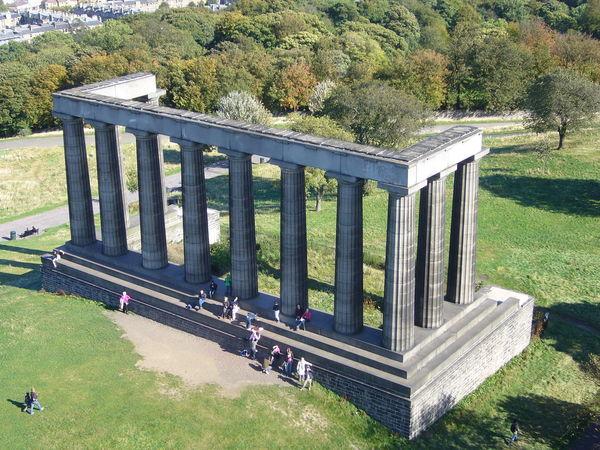 Edinburgh's half finished monument